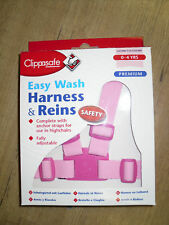 Baby Child Toddler Highchair Pram Walking Safety Harness & Reins PINK EasyWash