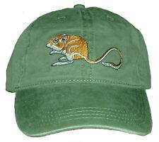 Kangaroo Rat Embroidered Cotton Cap New Hat Desert Wildlife Small Mammal