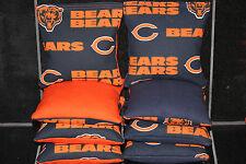 Cornhole Bean Bags made w CHICAGO BEARS Fabric 8 ACA Regulation Game Toss Bags
