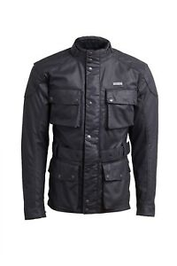 GENUINE Triumph Motorcycles Beck Waxed Cotton Custom Riding Jacket Black - SALE!