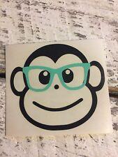 Custom Monkey With Glasses Vinyl Decal,Yeti Rambler, RTIC, Ozark Trails,Tumbler