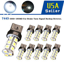 10x HID White 7443 18SMD LED Light Bulbs Turn Signal Tail Brake Stop 7440 T20