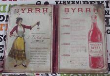 Ancien Indicateur des chemins de Fer Byrrh Vin Tonique Apéritif Mode Costume