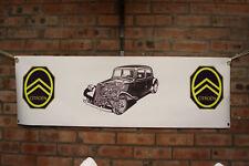 Citroen Trazione Avant nero grande lavoro in pvc Negozio Banner Garage mostra Banner