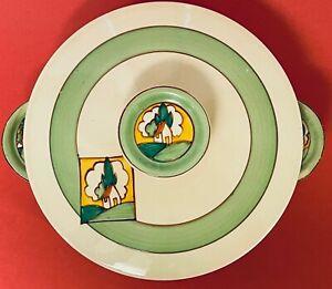 """Clarice Cliff Bizarre Art Deco VTG c1930 Newport Pottery 8"""" Covered Dish Ltd Ed"""