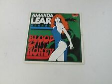 """AMANDA LEAR - BLOOD AND HONEY - 7"""" POLYDOR RECORDS 1976 ITALY - NM/EX- Q2"""