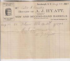 3 1873-1904 BILLHEADS - HYATT - SCHOONMAKER MILLS - WEED & BAGSHAW - NEWBURGH NY