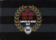 Lancia Delta HF 4WD integrale Italian market 1991 colour original sales brochure