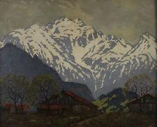 Alfred STREUBEL 1861 - ? - Hochgebirgslandschaft Alpen ?