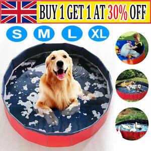 Protable Pet Bath Swimming Pool Foldable Bath Paddling Pool Puppy Bathtub UK