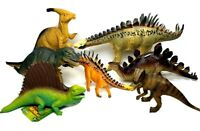 """Mixed Lot Of 7 Dinosaur Action Figure Toys In Good Condition 7"""" - 11"""" Dinos"""