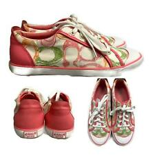 Coach Barrett Signature Print Canvas Lace Up Sneakers Size 9.5 Pastel