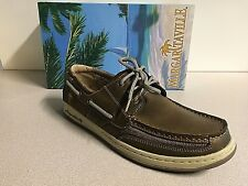 Margaritaville Men's Leather Casual Lighthouse Wharf Boat Shoes Size 10 Brown