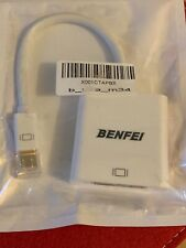 Mini DisplayPort(Thunderbolt) to DVI Adapter, Benfei Mini Display 000090white