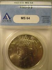 1923-S PEACE SILVER DOLLAR MS64 ANACS
