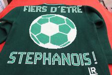 Pull SAINT ETIENNE FOOTBALL - made in France ,Fiers d'etre Stephanois