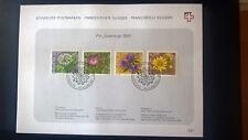 Schweiz 1991 Pro Juventute Satz Blumen Ersttagsblatt 427