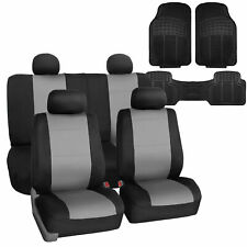 Neoprene Car Seat Covers Gray For Auto Suv Car With Floor Mats Fits Jeep Cherokee