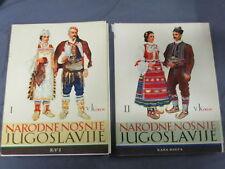 NARODNE NOSNJE JUGOSLAVIJE,V.KIRIN;2 tomes; Les costumes Nationaux  YOUGOSLAVIE