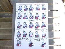 ESSENDON TEAM OF THE CENTURY PRINT SIGNED BY ALL LIVING / A3 SIZE / 12 SIGS