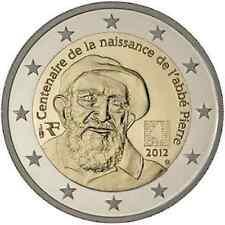 Francia  2€ 2012  Abate Pierre   FDC in oblò e posta prioritaria