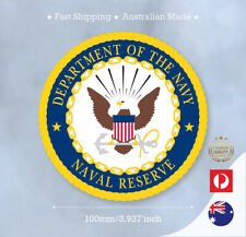 DEPARTMENT OF THE NAVY UNITED STATES OF AMERICA RESERVE STICKER DECAL100MM