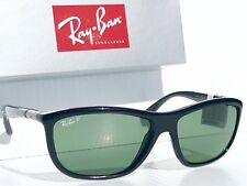 NEW* Ray Ban RB 8351 Black polished POLARIZED Grey Green Lens Sunglass