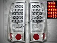 99-02 Chevy Silverado 99-03 GMC Sierra 1500/2500 Tail Lights Chrome LED