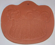 BENNINGTON POTTERS Vintage 1964 CLAY Hen CHICKEN wall hanging trivet Made In USA