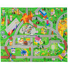 Kids Play Mat Double Sided for Children Roads City Trains Toy Cars Imagination