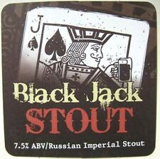 BLACK JACK STOUT Beer COASTER Mat w/ Playing CARD, DuClaw Brewing MARYLAND 2010