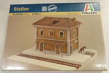 Italeri 1/72 2 Story Ruined Railroad Train Station W/ Track Pieces Model 6162