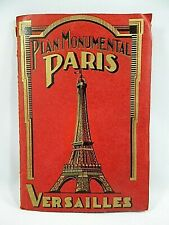 Paris Versailles Maps Guidebook 1931 Large 2 Sided PLUS Intl Colonial Expo Map