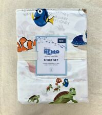 Pottery barn kids Organic Disney Pixar Finding Nemo Sheet Set Twin fish Ocean