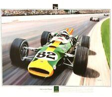 "Jim Clark, Lotus 38 Indy 500 winner. ""The Greatest Victory"" Andrew Kitson Print"