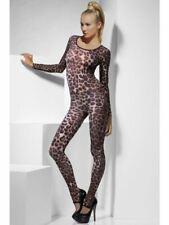 Adult's Cheetah Leopard Print Body Suit Sexy Animal Catsuit Ladies Costume 6-14