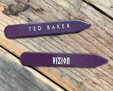 Ted Baker DEVIL Replacement Branded White Collar Stiffeners//Stays//Tabs 6cm NEW