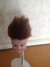 "Dolls Faux Fur Wig 7"" Head ,Brown New No 5"