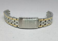 Seiko 13mm Ladies' Gold/Silver Two Tone Stainless Steel Metal Watch Band