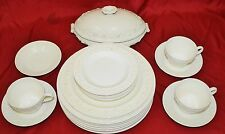 Wedgwood Queensware Cream on Cream Dinnerware - 23 Pc Collection