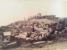 Puy-de-Dôme temple de Mercure et l' observatoire ND phot albuminé 1895 Auvergne