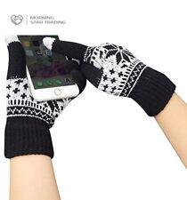 Touch Screen Gloves w/Sensitive Finger Smartphone Tablet Warm Cozy Wool Knit Uni