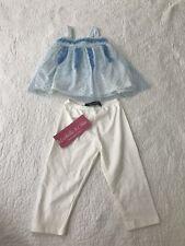NWT Isobella & Chloe blue dress sleeveless top pants 2 piece girls size 12 M