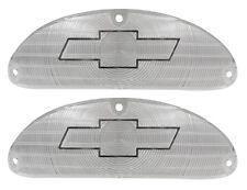 NEW Chrome Bowtie Parking Light Lens PAIR / FOR 1955 CHEVY 150 210 / A1027C