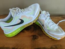Nike Air Max 2014 White Atomic Mango Volt Black 621078 101 Womens Running Shoes