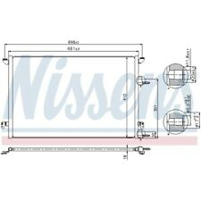 1 Condenseur, climatisation NISSENS 940320 convient à SAAB CADILLAC