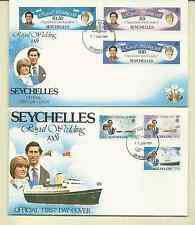 SEYCHELLES ROYAL WEDDING 1981 3 SHEETLETS MNH & 2 FDC'S SC # 469-74 FREE SHIP