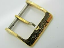 Noblia Vintage 16mm Watch Band Strap Buckle Gold Tone Stainless Mens Pre-Owned