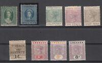 C2813/ BRITISH GRENADA – VICTORIA – 1861 / 1899 MINT CLASSIC LOT – CV 300 $