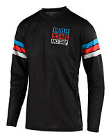 Troy Lee Designs 2020 GP Air Saddleback Jersey - Black / Cyan - Motocross